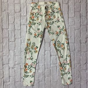 Citizens Of Humanity Cream Floral Jeans
